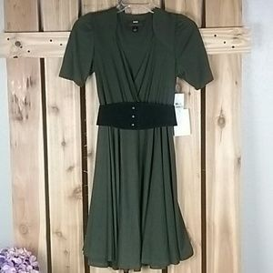 Miss Sixty M60 Olive Green Dress NWT